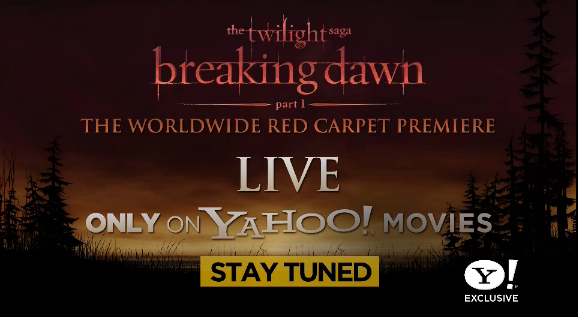 Watch live streaming video from THE TWILIGHT SAGA: BREAKING DAWN - PART 1 World Premiere tonight on FilmEdge.net