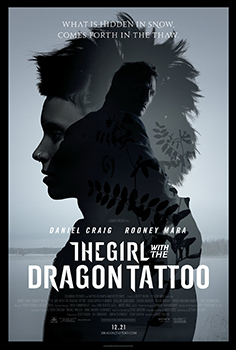 Click to download THE GIRL WITH THE DRAGON TATTOO one sheet poster