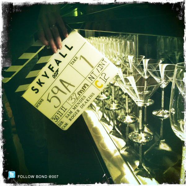 A toast to day 22 of SKYFALL filming the UK as China