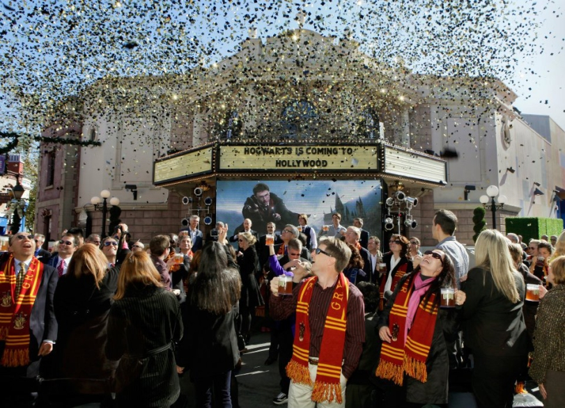 Celebrating news that The Wizarding World of Harry Potter comes soon to Universal Studios Hollywood