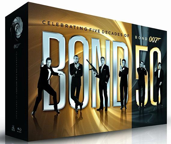 Click to view hi-res art of BOND 50 Blu-ray box set