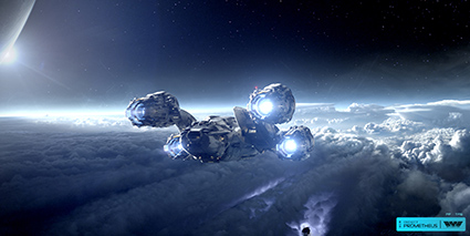 See new hi-res still images from PROMETHEUS on FilmEdge.net