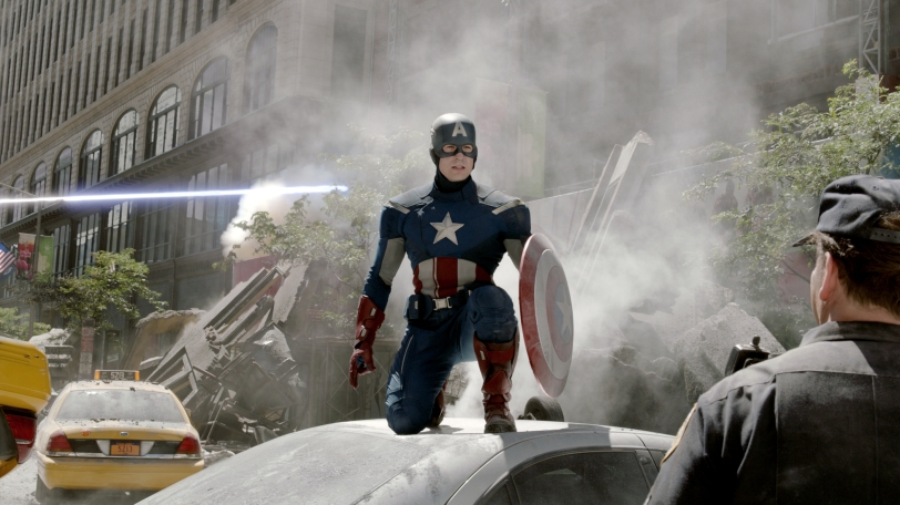 Marvel's THE AVENGERS.  Captain America (Chris Evans).  © 2011 MVLFFLLC.  TM & © 2011 Marvel.  All Rights Reserved.