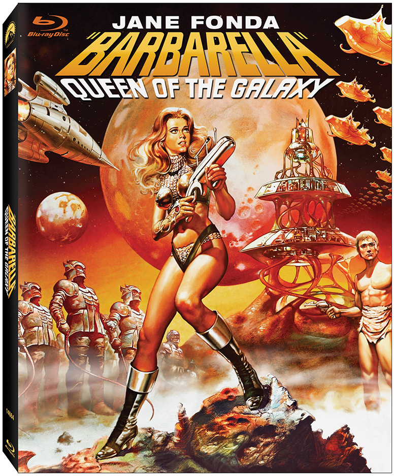 Blu-ray box art for BARBARELLA available July 3, 2012 from Paramount Home Media
