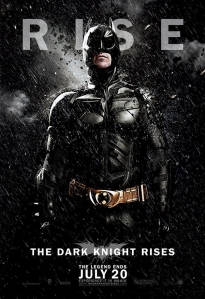The Batman character banner for THE DARK KNIGHT RISES