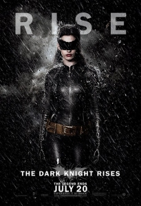 The Catwoman character banner for THE DARK KNIGHT RISES