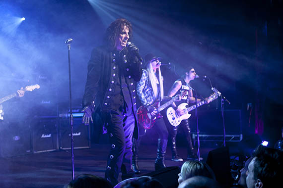 Shock Rocker/cast member Alice Cooper rocks the DARK SHADOWS after party