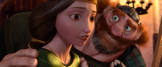 """BRAVE"" (L-R) QUEEN ELINOR and KING FERGUS. ©2012 Disney/Pixar. All Rights Reserved."