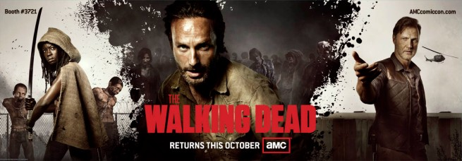 The Comic Con banner for Season 3 of THE WALKING DEAD