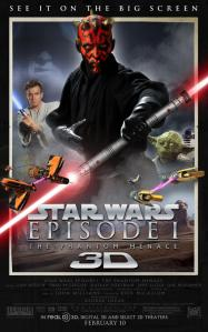 Poster for STAR WARS: Episode I - The Phantom Menace in 3D