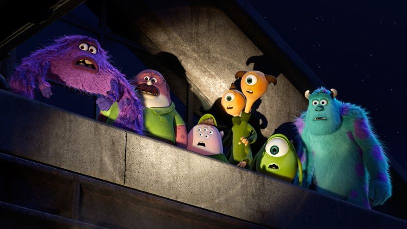 MONSTERS UNIVERSITY (Pictured) MIKE and SULLEY amongst other MU monsters. ©2012 Disney/Pixar. All Rights Reserved.