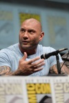 "SAN DIEGO, CA - JULY 20: Actor Dave Bautista speaks at Marvel's ""Guardians Of The Galaxy"" panel during Comic-Con International 2013 at San Diego Convention Center on July 20, 2013 in San Diego, California. (Photo by Alberto E. Rodriguez/WireImage) *** Local Caption *** Dave Bautista"