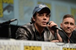 "SAN DIEGO, CA - JULY 20: Actors Benicio del Toro (L) and Lee Pace speak at Marvel's ""Guardians Of The Galaxy"" panel during Comic-Con International 2013 at San Diego Convention Center on July 20, 2013 in San Diego, California. (Photo by Alberto E. Rodriguez/WireImage) *** Local Caption *** Benicio del Toro;Lee Pace"