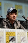 "SAN DIEGO, CA - JULY 20: Actor Benicio del Toro speaks at Marvel's ""Guardians Of The Galaxy"" panel during Comic-Con International 2013 at San Diego Convention Center on July 20, 2013 in San Diego, California. (Photo by Alberto E. Rodriguez/WireImage) *** Local Caption *** Benicio del Toro"