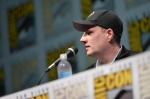 SAN DIEGO, CA - JULY 20: Producer and President of Marvel Studios Kevin Feige speaks at Marvel Studios Panel during Comic-Con International 2013 at San Diego Convention Center on July 20, 2013 in San Diego, California. (Photo by Alberto E. Rodriguez/WireImage) *** Local Caption *** Kevin Feige
