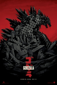 New GODZILLA poster that will debut at Comic-Con this week