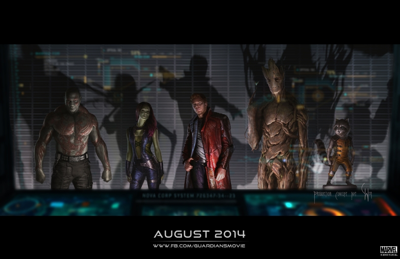 Character concept art for GUARDIANS OF THE GALAXY by Marvel Studios