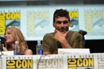"SAN DIEGO, CA - JULY 20: Actress Emily VanCamp (L) and actor Frank Grillo speak at Marvel's ""Captain America: Winter Soldier"" panel during Comic-Con International 2013 at San Diego Convention Center on July 20, 2013 in San Diego, California. (Photo by Alberto E. Rodriguez/WireImage) *** Local Caption *** Emily VanCamp;Frank Grillo"