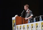 SAN DIEGO, CA - JULY 20: Chris Hardwick moderates at Marvel Studios panels during Comic-Con International 2013 at San Diego Convention Center on July 20, 2013 in San Diego, California. (Photo by Alberto E. Rodriguez/WireImage) *** Local Caption *** Chris Hardwick