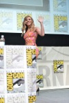 "SAN DIEGO, CA - JULY 20: Actress Scarlett Johansson speaks at Marvel's ""Captain America: Winter Soldier"" panel during Comic-Con International 2013 at San Diego Convention Center on July 20, 2013 in San Diego, California. (Photo by Alberto E. Rodriguez/WireImage) *** Local Caption *** Scarlett Johansson"