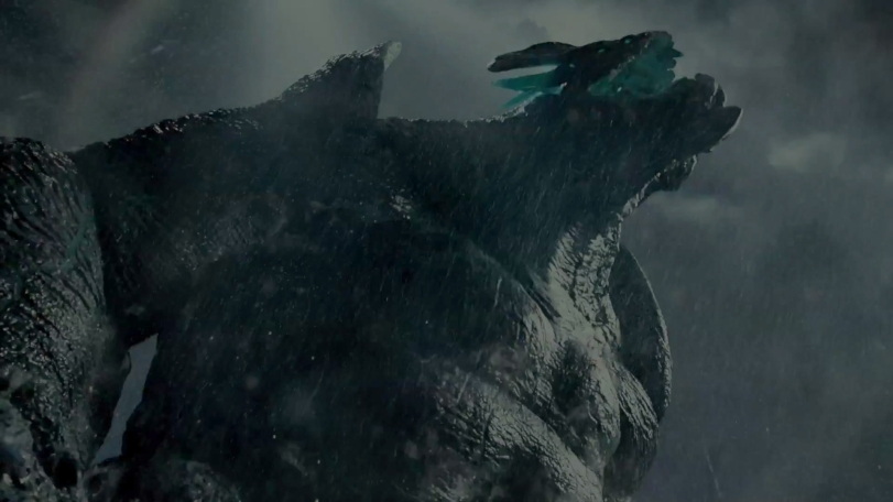 One of the gigantic deadly kaiju monsters arisen from the ocean floor to destroy humanity as seen in Guillermo del Toro's PACIFIC RIM. c. 2013 Warner Bros/Legendary Pictures. All rights reserved.