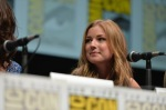 "SAN DIEGO, CA - JULY 20: Actress Emily VanCamp speaks at Marvel's ""Captain America: Winter Soldier"" panel during Comic-Con International 2013 at San Diego Convention Center on July 20, 2013 in San Diego, California. (Photo by Alberto E. Rodriguez/WireImage) *** Local Caption *** Emily VanCamp"