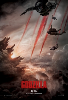 The new one-sheet teaser poster design for GODZILLA from Legendary Pictures.