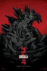 The GODZILLA Comic-Con 2013 Mondo poster design.