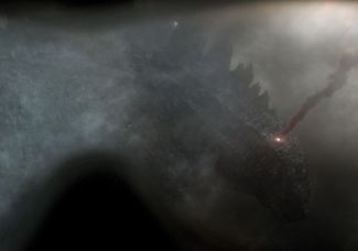 The first official photo of the kaiju monster start of GODZILLA. © Warner Brothers/Legendary Pictures.